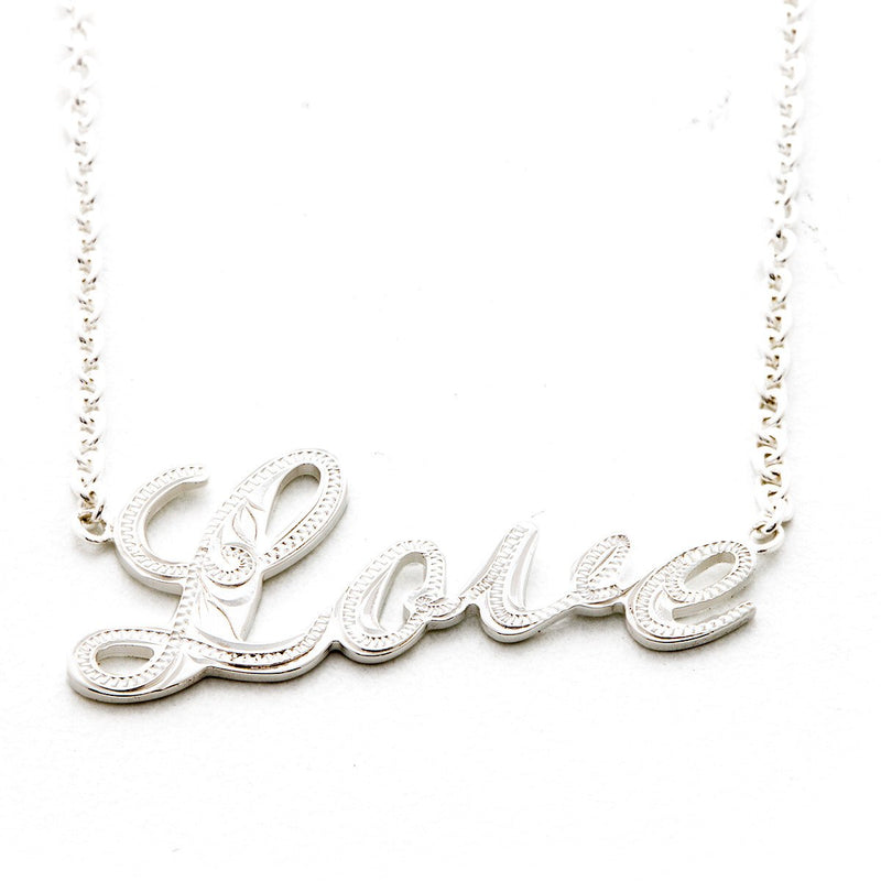 [Silver 925] Custom Letter Necklace Large(N0007)