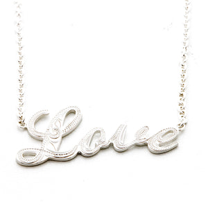 Silver 925 Letter Necklace Large