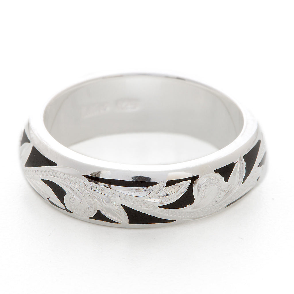 Silver 925 Enamel Ring Large