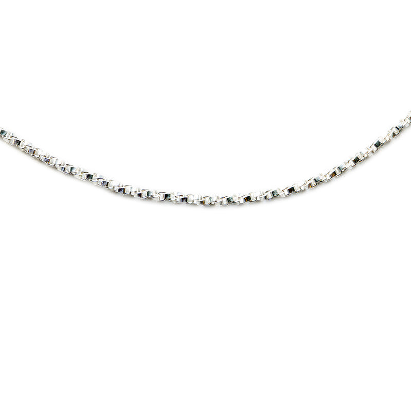 Silver 925 Small Twist Box Chain