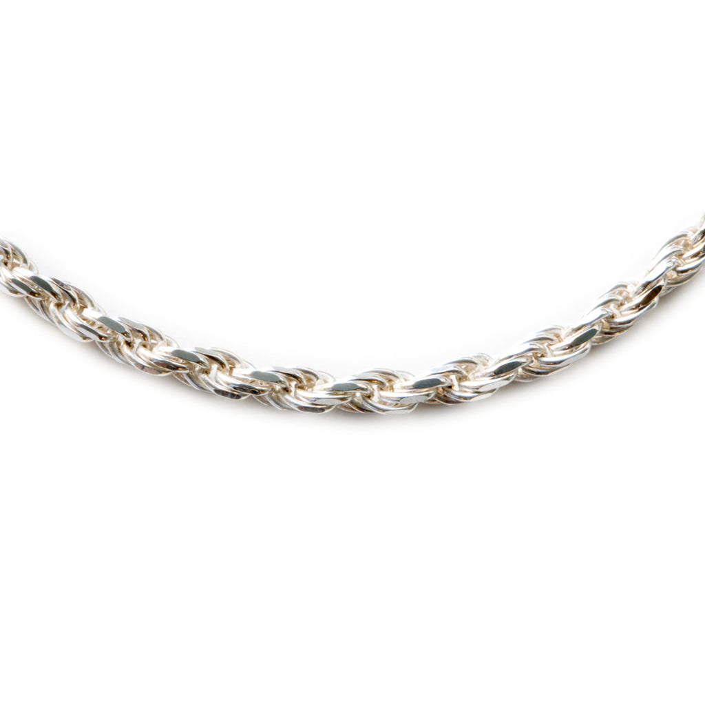 Silver 925 2.5mm Rope Chain