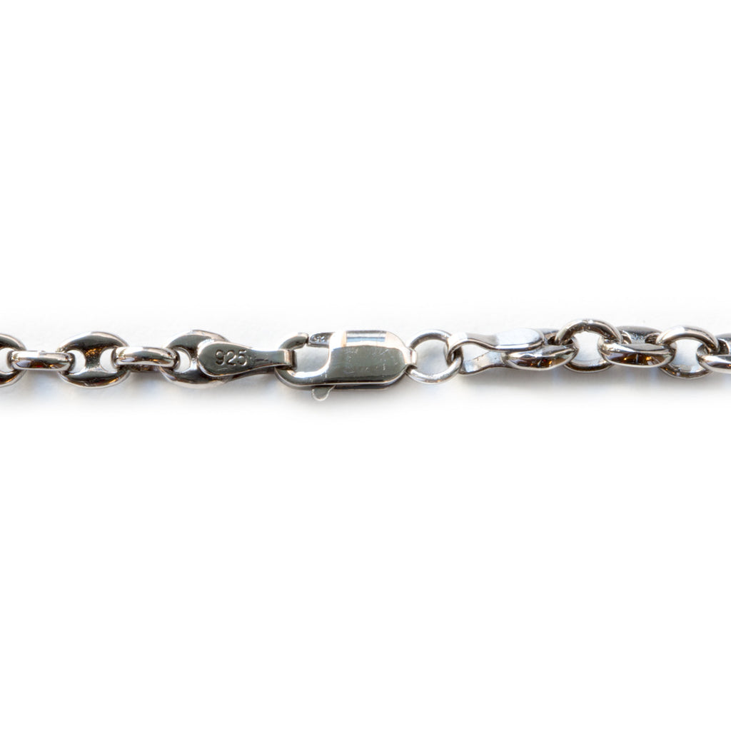 Black Chrome Medium Marina Chain