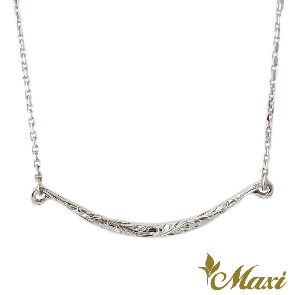 [14K Gold] -Wavy Line Horizontal Necklace *Made-to-order*(KN0001)