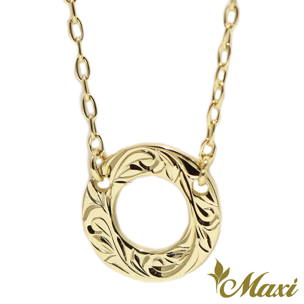 [14K Gold]Hoop Charm Necklace*Made-to-order*(KN0036)