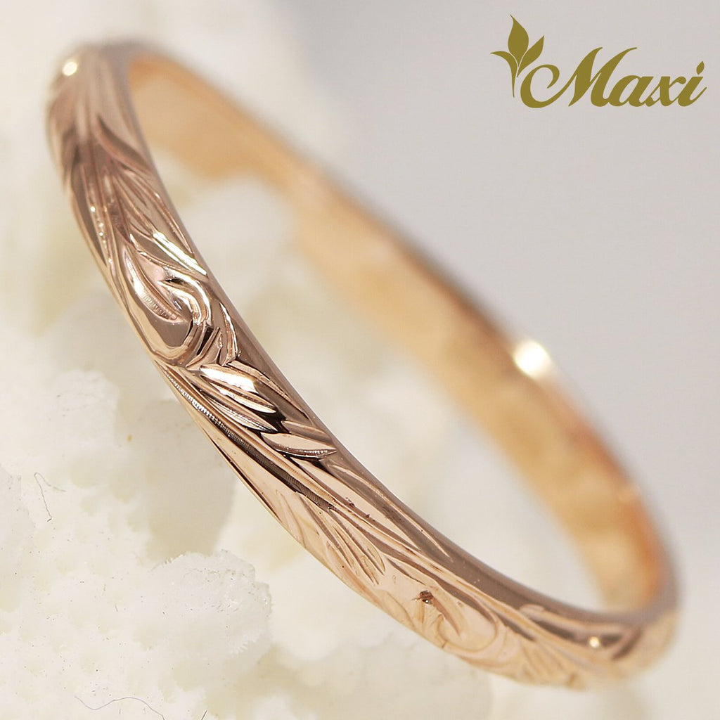 [14K Gold] 2mm Width Wavy Line Ring*Made to Order*(KR0026)