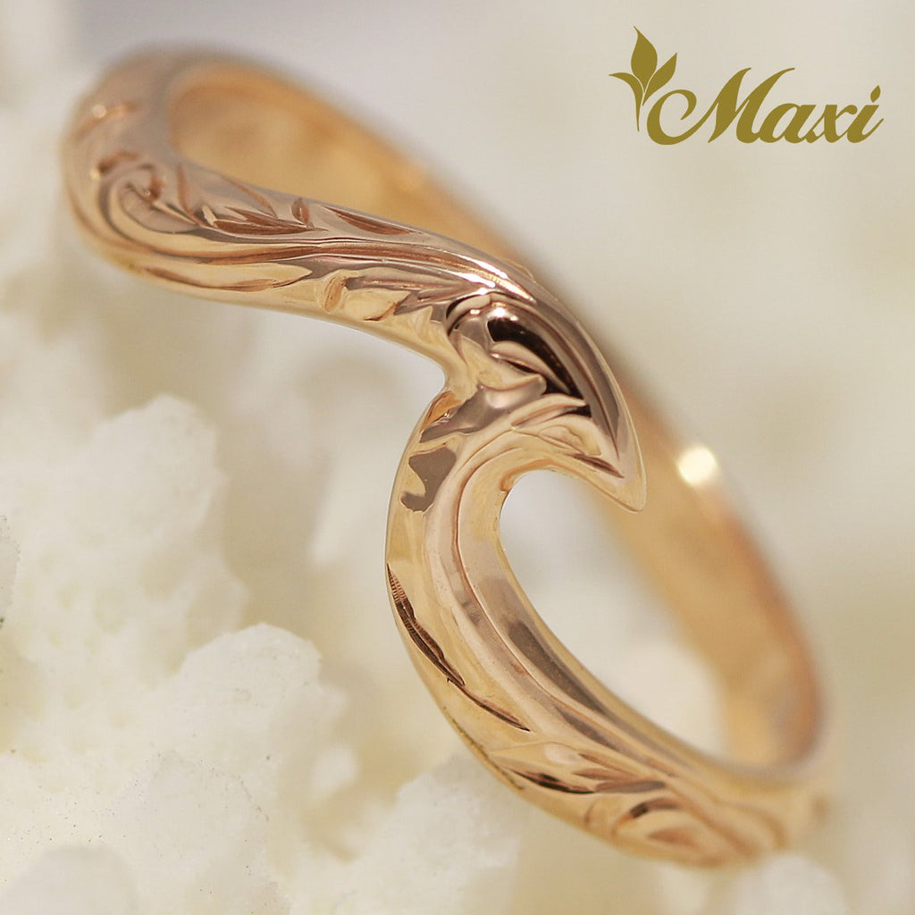 [14K Gold] Small Wave Ring [Made to Order] (KR0040)(Best Seller)