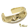 [14K Gold] Cut Out Work Toe Ring-3.5mm Width*Made-to-order* (KR0049 Toe)