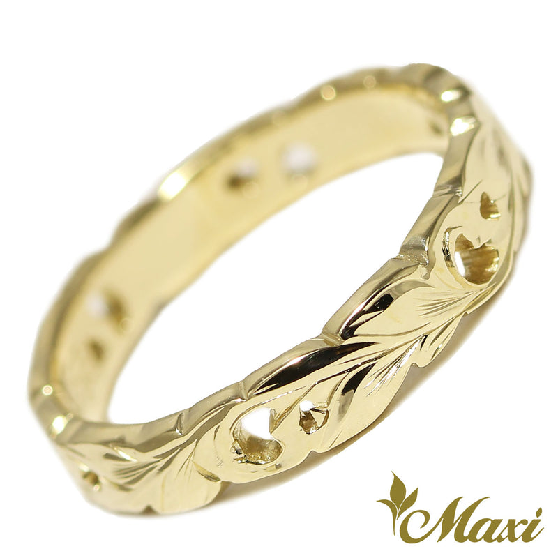 [14K Gold] Cut Out Work Ring-3.5mm Width *Made-to-order* (KR0049)