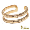 [14K Gold] Parallel Ring*Made to order*(KR0067)