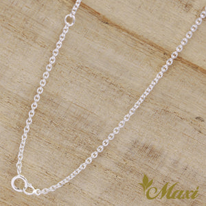 [Silver 925] Honu Necklace -Hand Engraved Traditional Hawaiian Design*Made-to-order*(N0030)