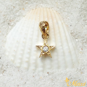 14K Yellow Gold Star Pendant with Diamond