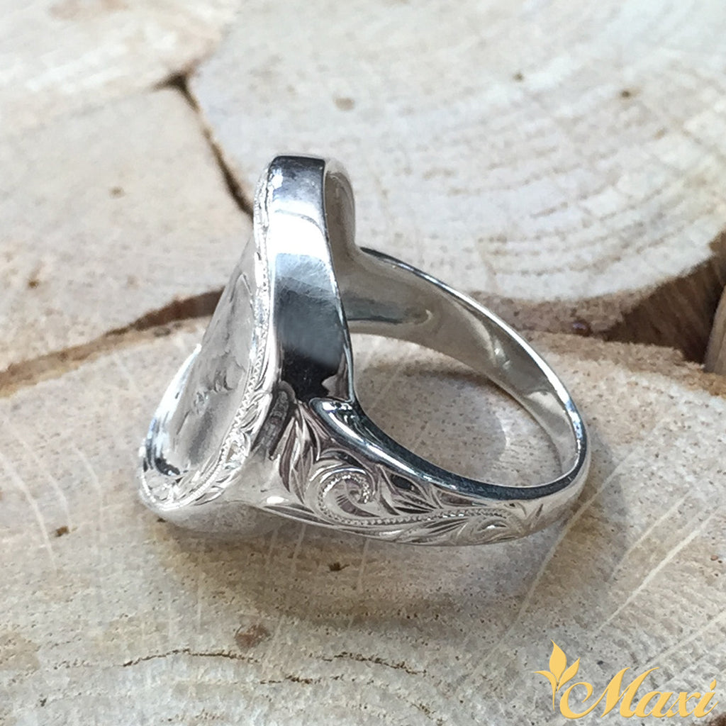 Silver 925 Mercury Dime Wrap Ring