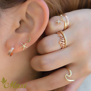 [14K Gold] Starfish Pierced Earring*Made-to-order* (KE0014)