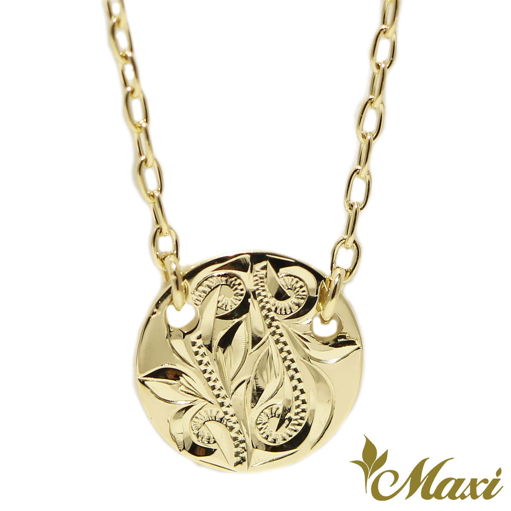 [14K Gold]  Medallion Necklace*Made-to-order*(KN0033)