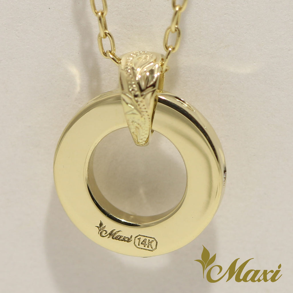 [14K Gold] Hawaiian Eternal Circle Pendant Small [Made to Order] (P0695)