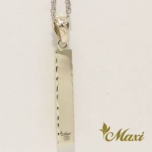 [14K Gold] Two Tone Bar Pendant*Made-to-order*(P1144)