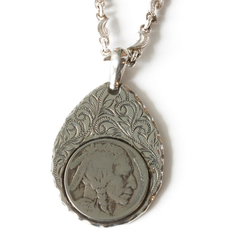Silver 925 Buffalo Nickel Coin Pendant