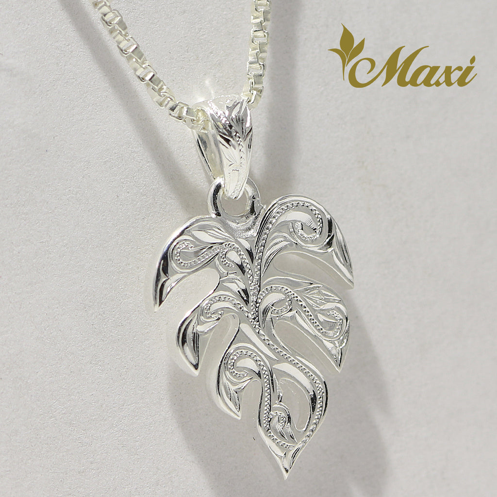 [Silver 925] Hawaiian Monstera Leaf Pendant (P1255) [Made to Order]
