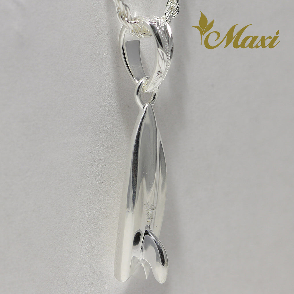 [Silver 925] Surf Board Pendant (P1256) [Made to Order]