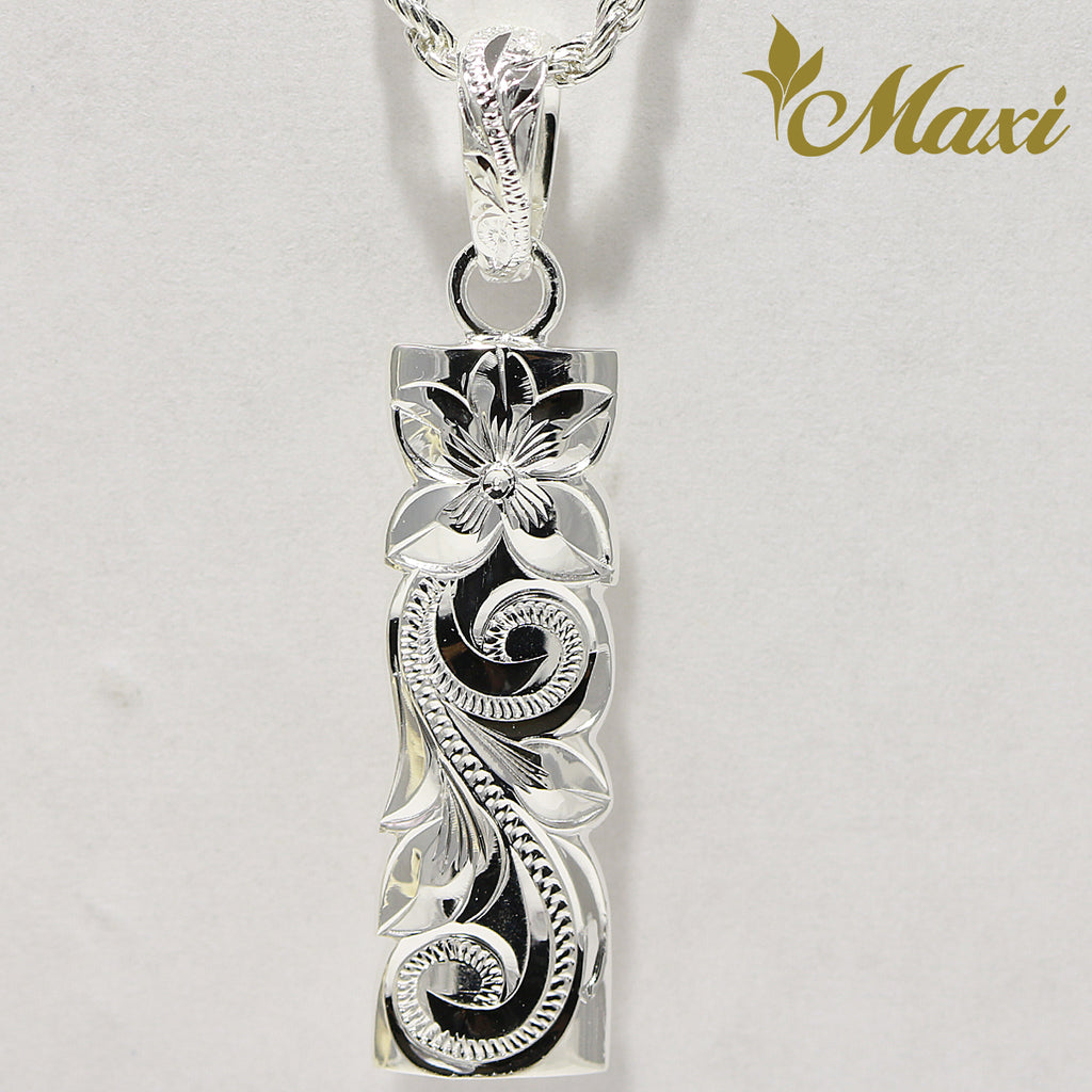[Silver 925] Bar Pendant 8mm Width (P1268) [Made to Order]