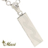 [Silver 925] Bar pendant-Wave-Black enamel *Made to Order* (P1278-B)