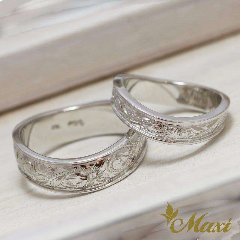 [Silver 925] 4mm+6mm Pair Ring/ Couple & Wedding $30 off [Made to Order] (R0147+R0148)