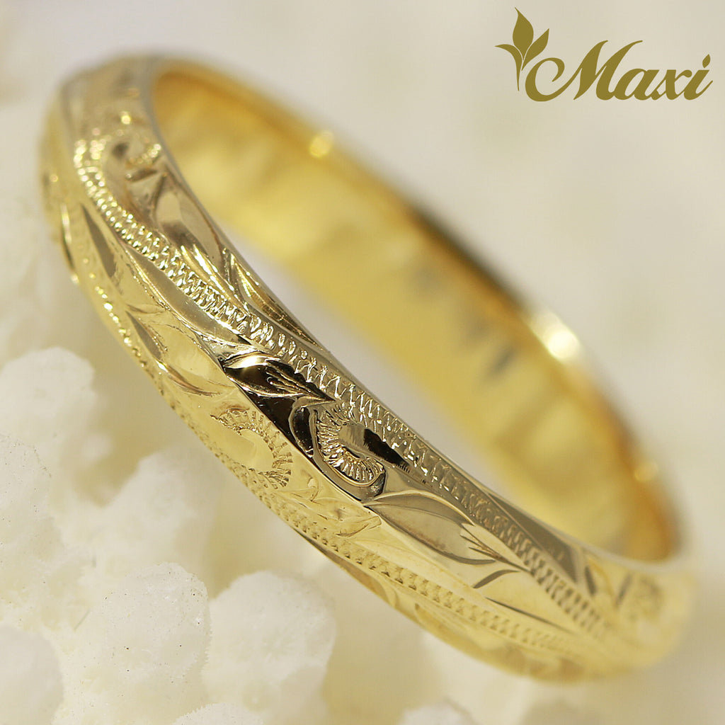 [14K Yellow Gold] Angle Ring Small 4mm [Made to Order] (R0151)