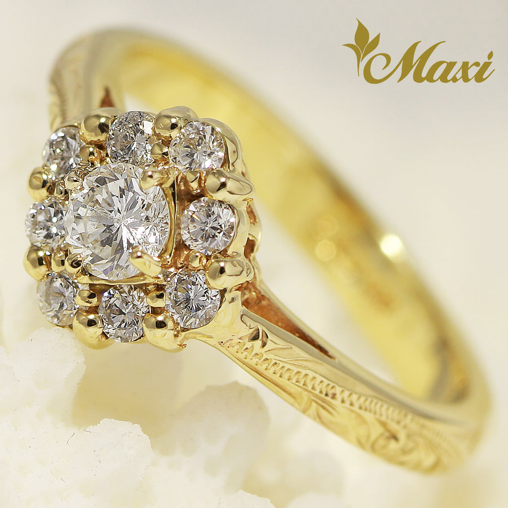 [14K Gold] Tiara Diamond Ring-Engagement/ Fashion(R0431) [Made to Order]