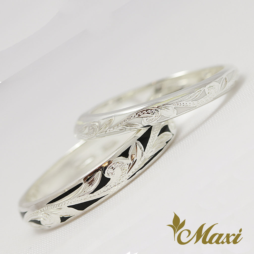 [Silver 925] Enamel Ring Pair $20 off/ Couple & Wedding [Made to Order] (R0438+439)