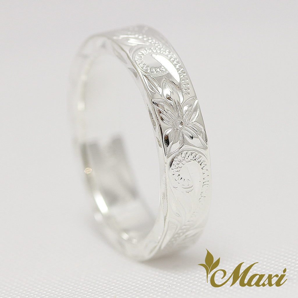 [Silver 925]  4mm Width Flat Ring [Made to Order] (R0538)