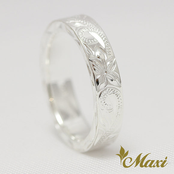 Silver 925 -Hand Engraved Traditional Hawaiian Design (R0538)