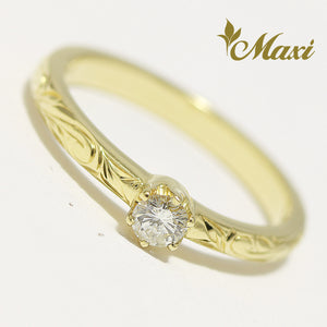[14K Gold] 0.13ct Diamond Ring - Fashion/ Engagement [Made to order] (R0544-0.13ct)