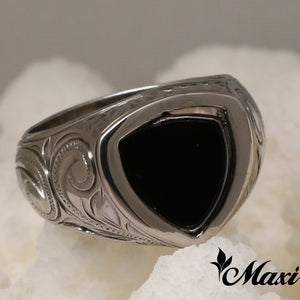 [Black Chrome Silver 925] Double sided Ring (R0570) SALE