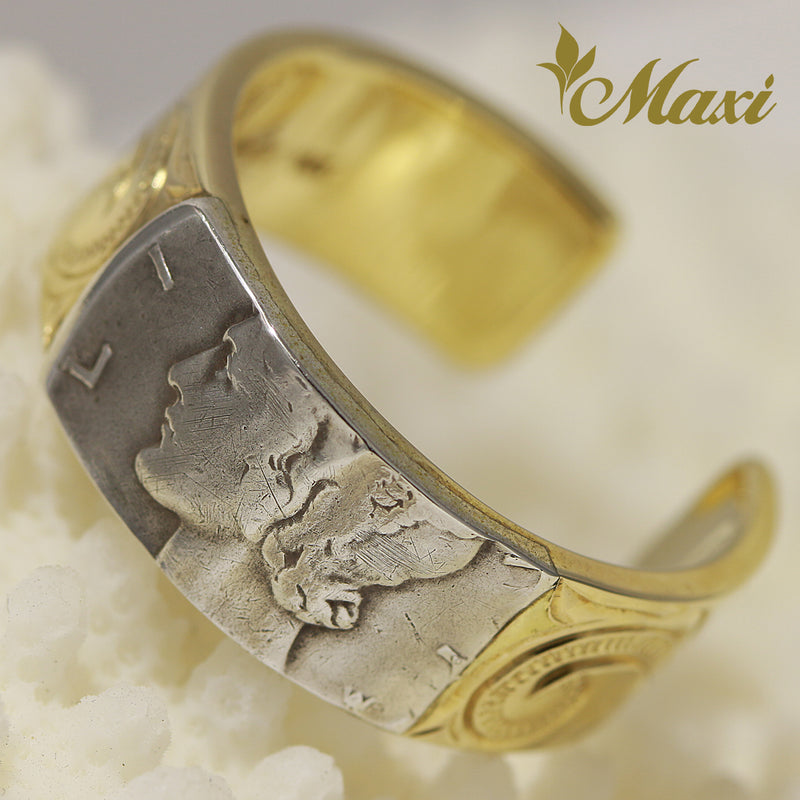 [14K Yellow Gold] Mercury Dime Open Ring 8mm [Made to Order] (R0628)