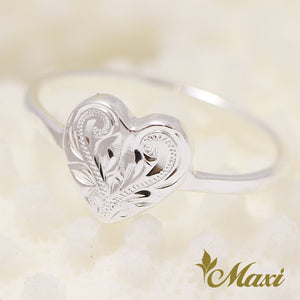 [Silver 925] Heart Disc Ring[Made-to-order] (R0642)