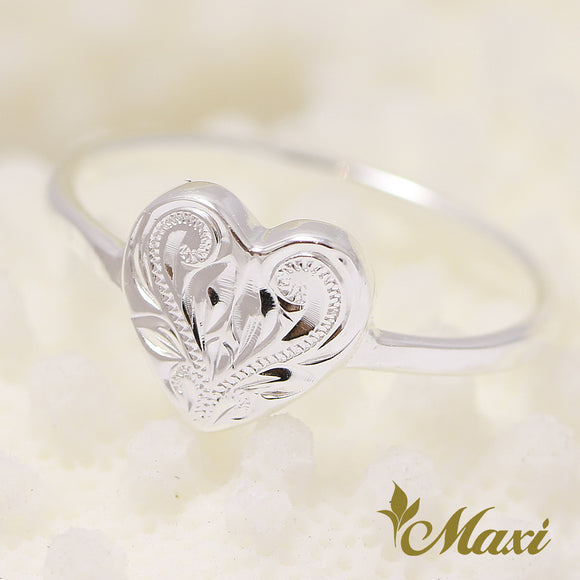 Silver 925-Hand Engraved Traditional Hawaiian Design (R0642)