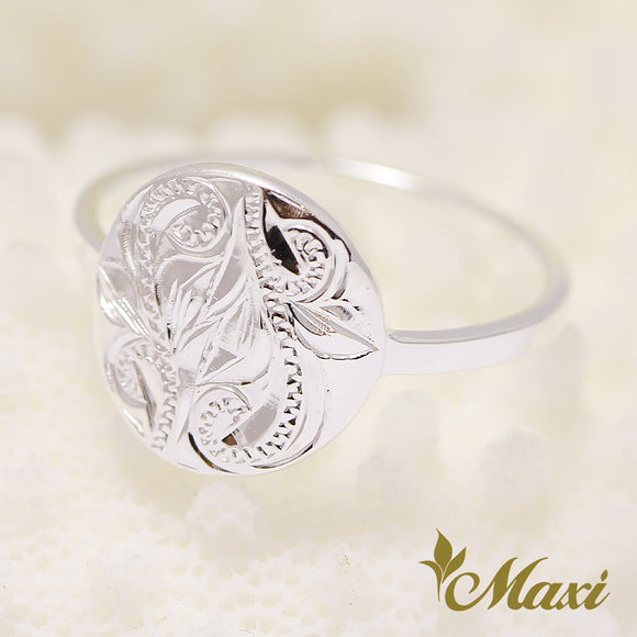 Silver 925 -Hand Engraved Traditional Hawaiian Design (R0643)