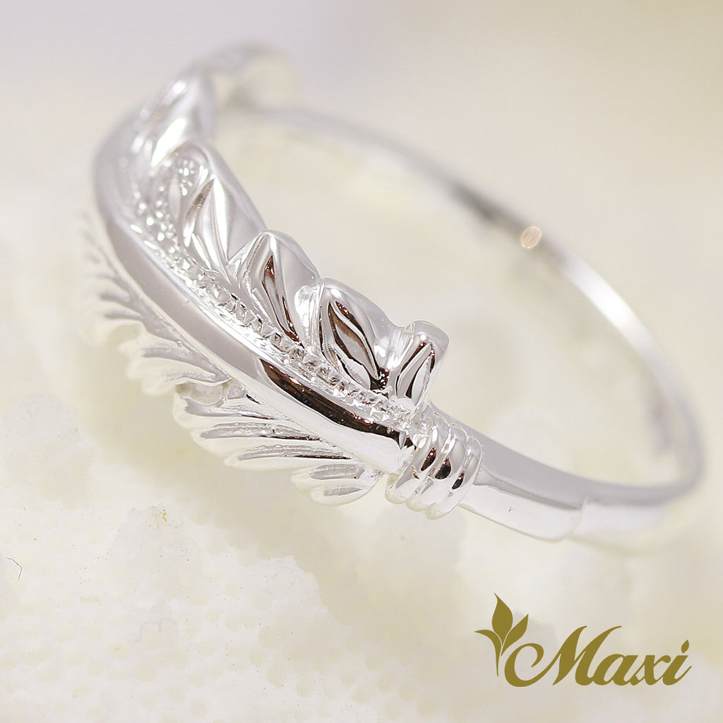 [Silver 925] Feather Ring  [Made to order] (R0650)