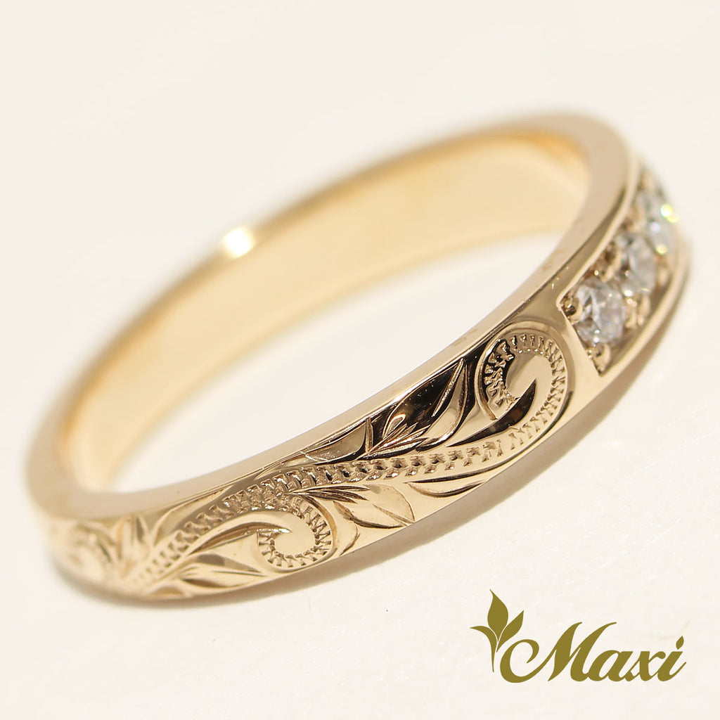 [14K Gold] 2mm Round Diamonds Ring [Made to Order] R0659