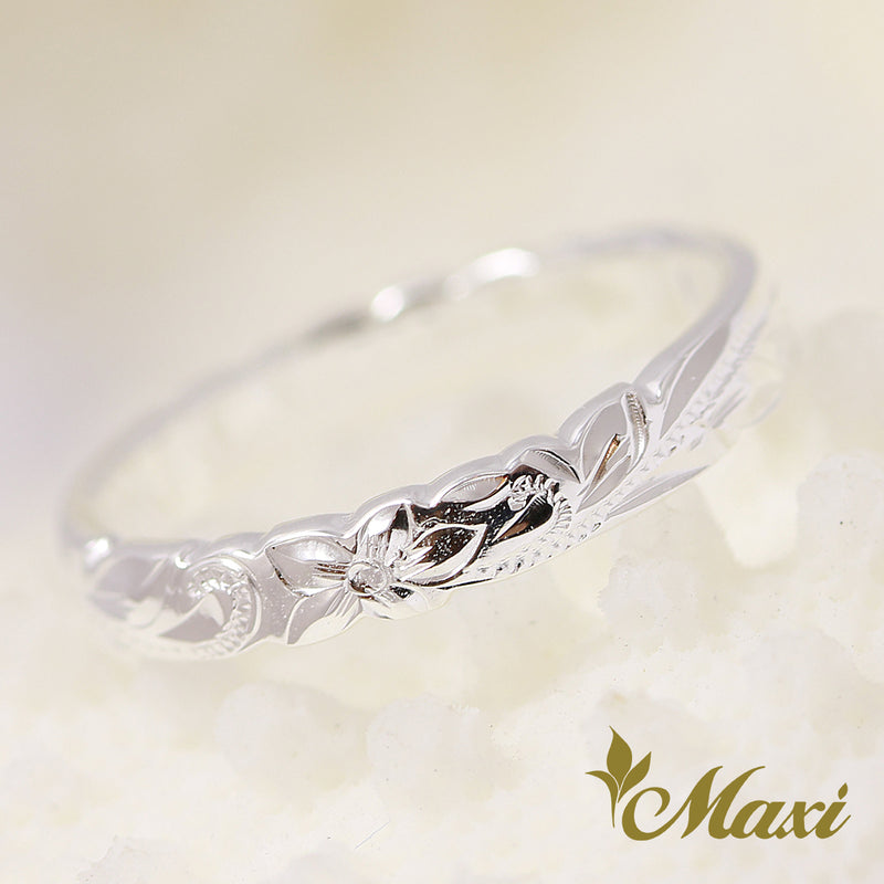 [Silver 925]  -Scallop Edge Pinky Ring 2.5mm [Made to Order] ((R0698)