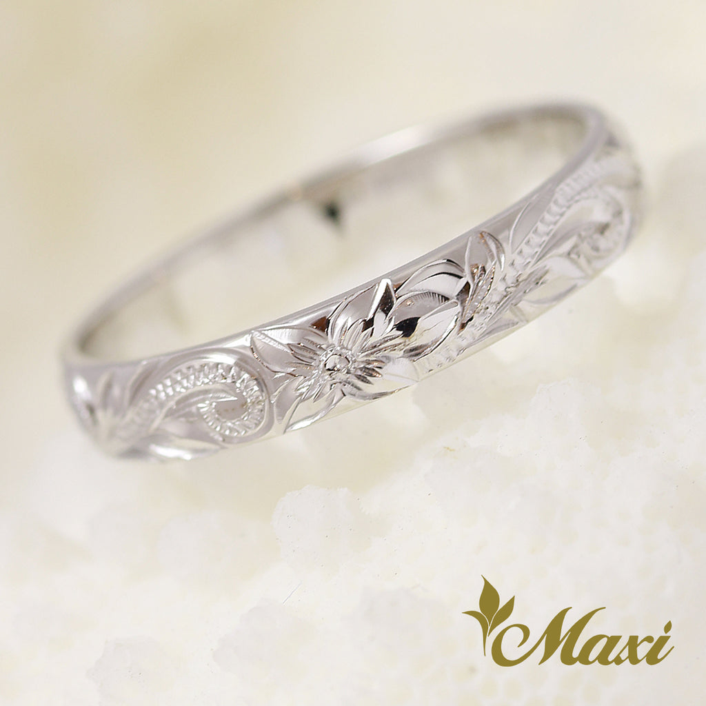 [14K White Gold] 3mm Width Ring [Made to Order] (R0731)