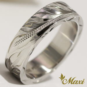 [Silver 925] Maile Leaves Ring 6mm*2mm (R0735) [Made to Order]