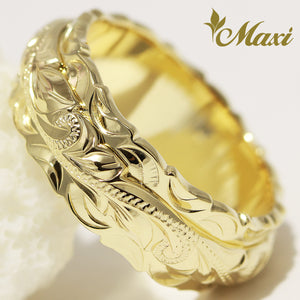 [14K Gold] 8x4mm Two Tone Ring (R0737) [Made to Order] *Promotion