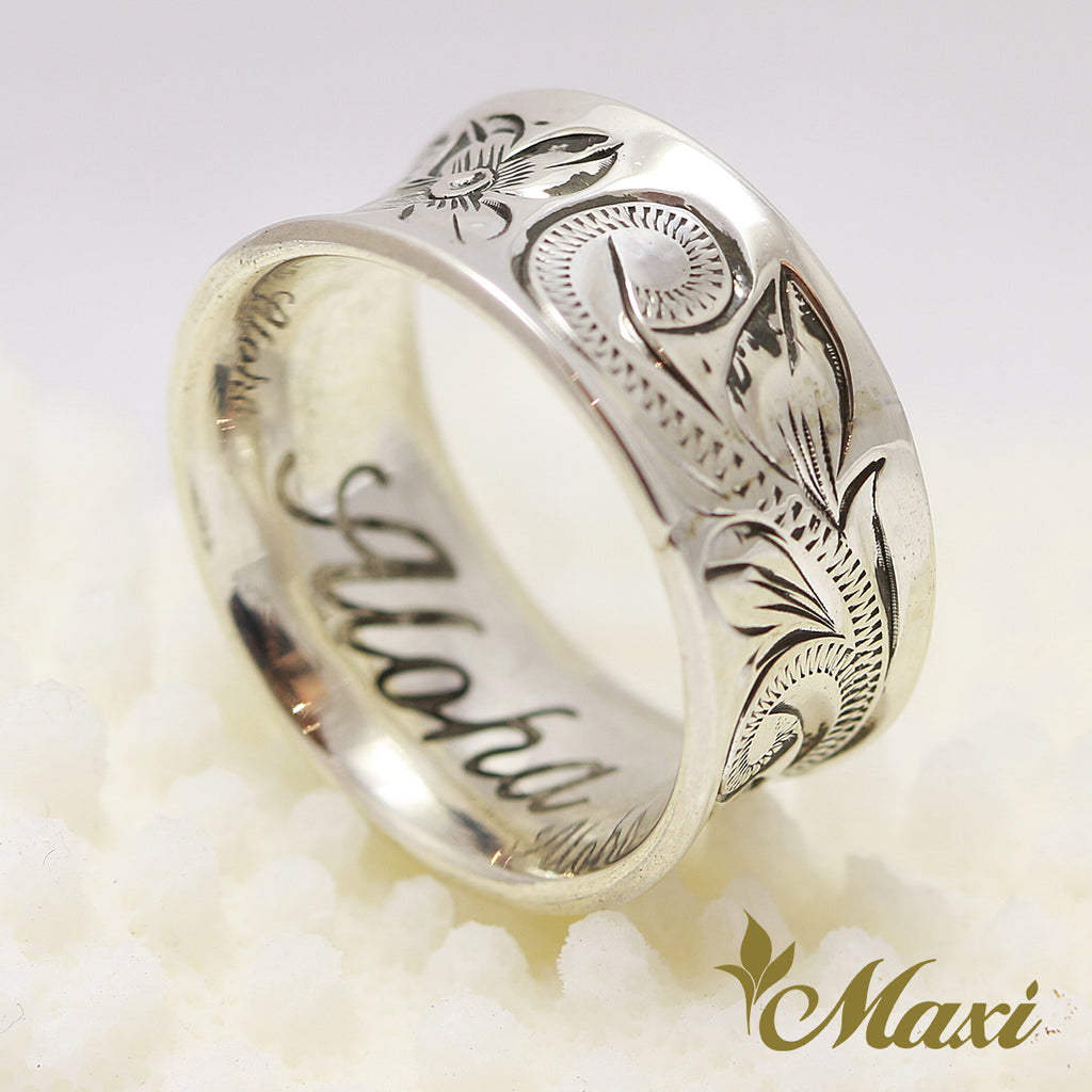 [Silver 925 Vintage Black] -Curl Inside Ring [Made to Order] (R0742)