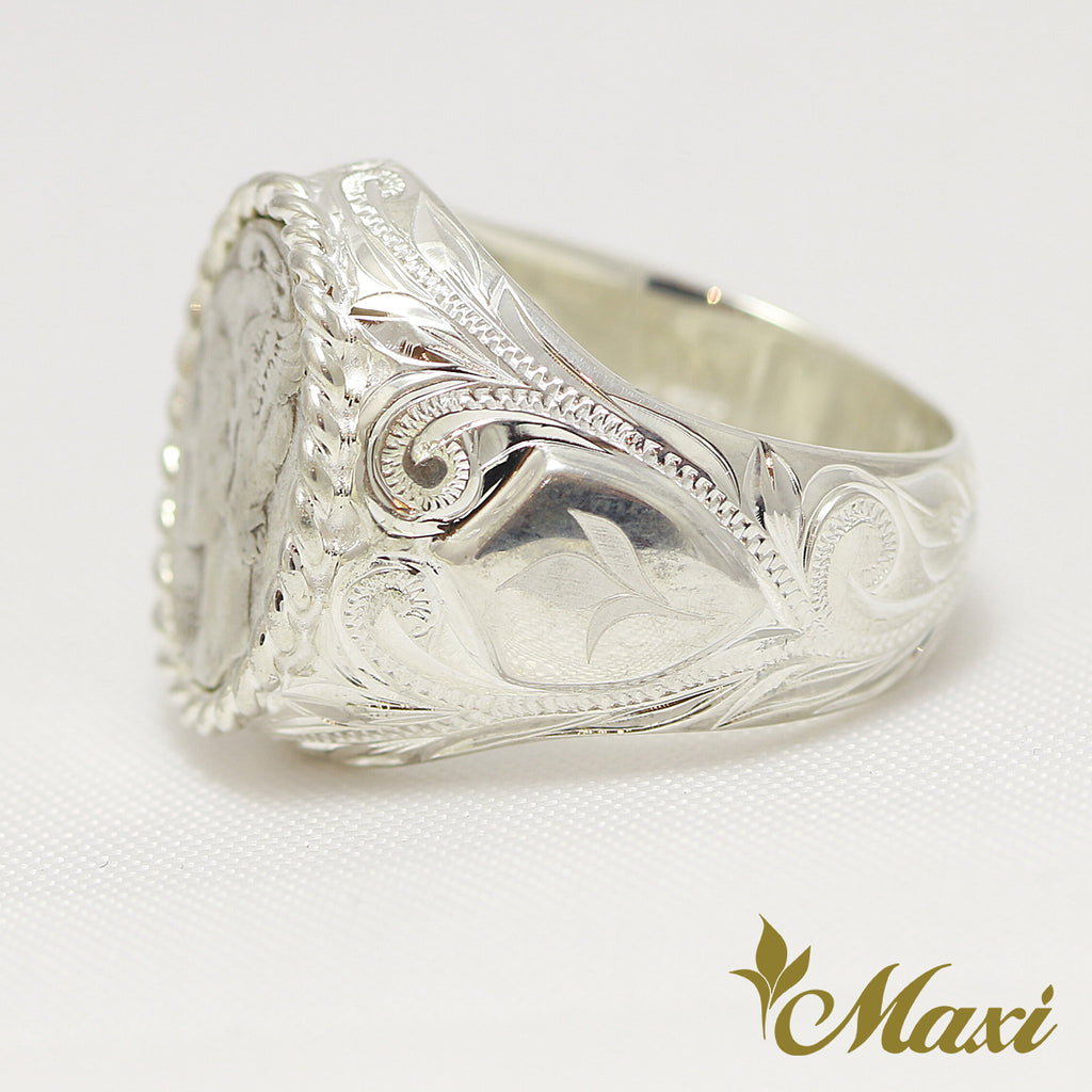 [Silver 925] -Mercury Dime Cut Ring  [Made to Order] R0750)