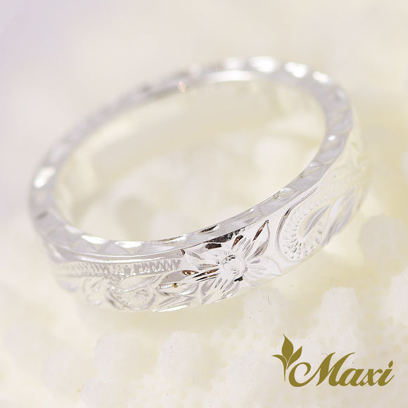 Silver 925 -Hand Engraved Traditional Hawaiian Design (R0760)