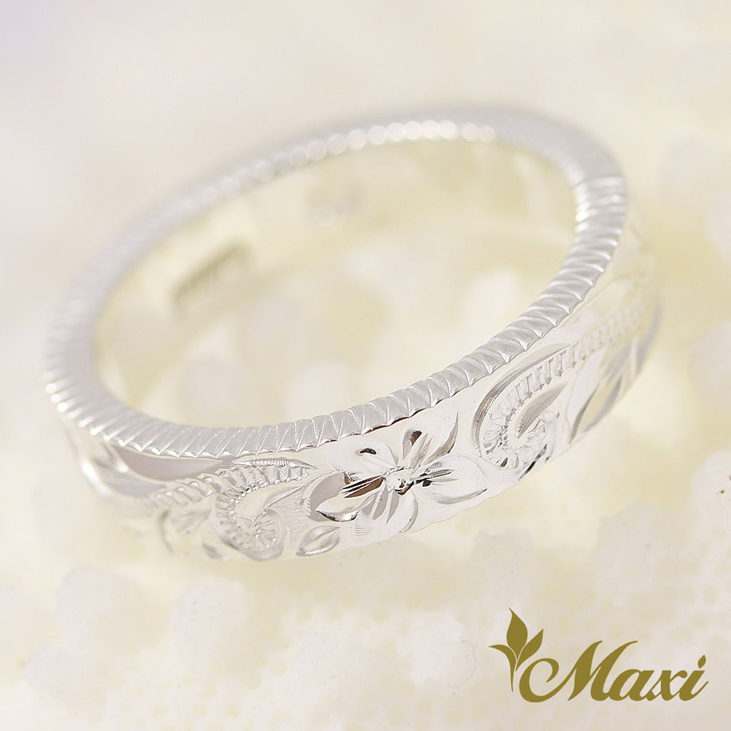 [Silver 925] *Sale* Coin Cut Side Ring 4mm [Made to Order] (R0761)