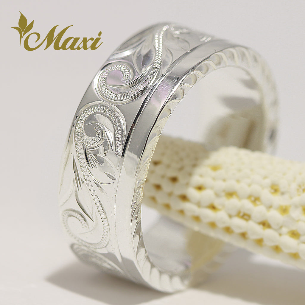 [Silver 925] Plain Edge Flat Ring 8mm [Made to Order] (R0769)