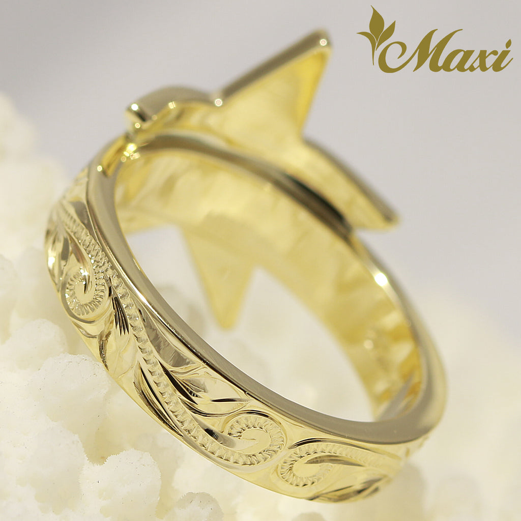 [14K Yellow Gold] Star Ring [Made to Order] (R0795)