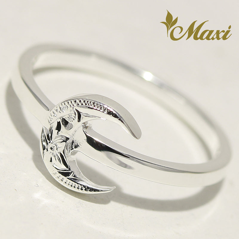 [Silver 925] Petite Crescent Moon Ring [Made to Order] (R0832)